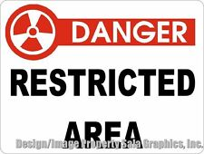 Danger Restricted Area Sign. w/ Size Options. Safety & Security at Your Business