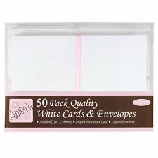 Anita's A6 Card and Envelope, Pack of 50, White