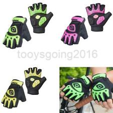 Fingerless Cycling Racing Gloves Half Finger Less Silicone Gel Padded Palm