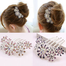 Women Wedding Bridal Flowers Crystal Hairpin Hair Clips Bridesmaid Hair Plug