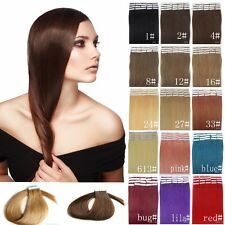 18'' 45cm Seamless Tape In Skin Weft Indian Remy Human Hair Extensions 20-40pcs