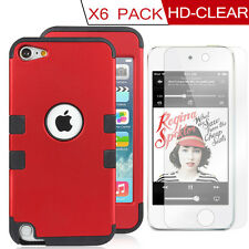 Genuine Heavy Duty Hybrid Case Impact F Apple iPod Touch 5th 6 Clear Screen Film