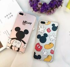 Disney Cartoon Mickey Mouse Soft Rubber Back Full Case Cover For Apple iPhone