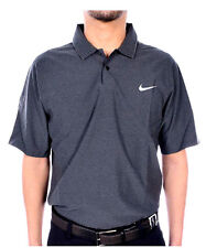 Nike Tiger Woods TW Velocity Max Woven Solid Golf Polo Shirt GREY Size S M L XL