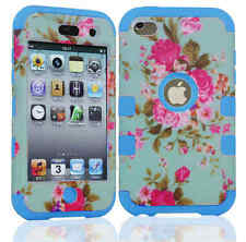 iPod Touch 4th Gen -HARD & SOFT RUBBER HIGH IMPACT Skin CASE HYBRID COVER SHELL