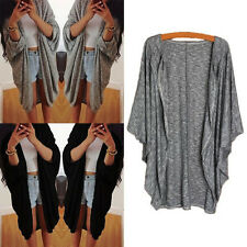 Women Batwing Sleeve Top Poncho Knit Cape Cardigan Coat Knitwear Sweater Jacket