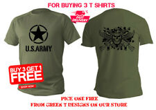 T shirt Men man dry fit short sport sleeve green olive military usa army Soldier