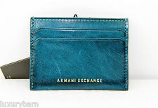 A|X ARMANI EXCHANGE WALLET ID CREDIT CARD HOLDER 100% AUTHENTIC 100% leather NEW