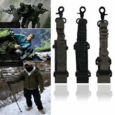 Tactical 1 Single Point Adjustable Bungee Rifle Gun Sling System Strap Hook BE