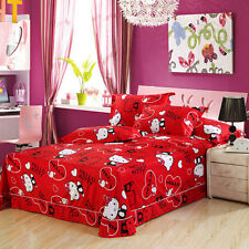 Red Hello Kitty Single/Double/Queen/King Size Bed Quilt/Doona/Duvet Cover Set
