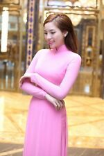 Pink AO DAI Vietnam CUSTOM MADE, Silk for  Dress and PANT, Affordable Price