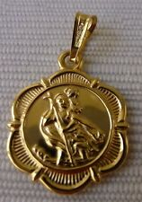 9ct 9k 375 Yellow Gold St.Christophers / protection Pendant / medal Malta