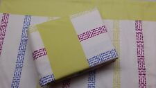 Yellow Stripes 4PC WATERBED SHEET SET  with Pole Attachment Microfiber Print