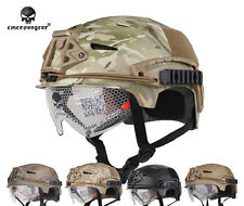 Emerson Airsoft Tactical Helmet Combat EXF BUMP Helmet with Goggle