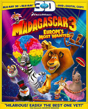 Madagascar 3: Europes Most Wanted (Blu-ray/DVD, 2012, 3-Disc Set, Includes Digit