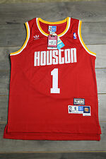 Tracy McGrady #1 Houston Rockets Red Jersey Throwback Vintage Classic Stripe New