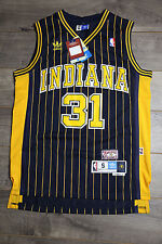 Reggie Miller #31 Indiana Pacers Jersey Throwback Vintage Classic Stripe Yellow