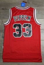 Scottie Pippen #33 Chicago Bulls Jersey Throwback Vintage Classic Retro Red New