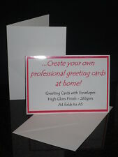 X25 A5 265GSM BLANK GREETING CARDS WITH/OUT ENVELOPES INKJET PRINTABLE GLOSS