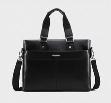 New Men's Leather Bag Shoulder Briefcase Messenger Handbag Laptop Purse Bag