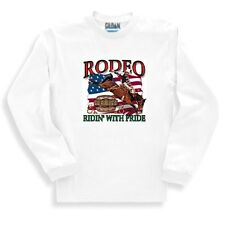 Western Sweatshirt Rodeo Riding Ridin' With Pride Cowboy Cowgirl