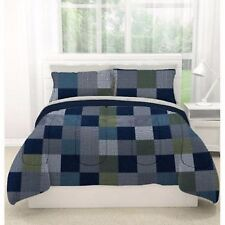 Bed in a Bag Bedding Comforter Sheet Set American Original Latitude Geo Blocks