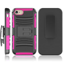 Pink/Black Armor Stand Hybrid Belt Clip Holster Cover Phone Case Apple iPhone 7