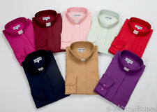 Womens Clergy Shirt, Long Sleeves, Tab Collar, Multiple Color Options, Pastor