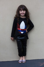 BNWT Girls Black Sequin Iris Long Sleeve Top
