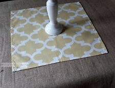 Modern Yellow Table Square Overlay Wedding Table Centerpiece Decor Cloth Linens