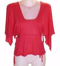 Bnwt Authentic Women's French Connection Batwing Top Blouse Pink New Viscose