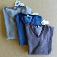 NWT Daniel Cremieux Signature Collection $195 Wool Cashmere V-neck Sweater