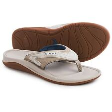 Simms Fly Fishing Atoll Sandals / Flip-Flops - Vegan Leather Multi Color - NEW!