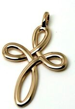 KAEDESIGNS,Large 9ct Yellow or Rose or White Gold FANCY CELTIC CROSS PENDANT 402