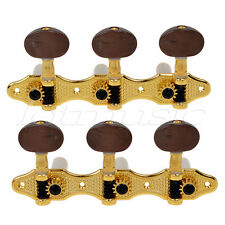 Classical Guitar Tuning Pegs Machine Heads Tuner Gold Plated Caving Pattern
