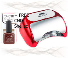 *18K* 48W LED Gel Nail Lamp + FREE CND Shellac ● Cures all Shellac UV/LED Gel  ●