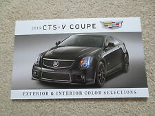 2015 CADILLAC CTS - V COUPE FACTORY COLOR CHIP SAMPLE CHART BROCHURE NEW