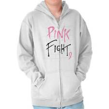 Breast Cancer Awareness Pink Fight Breast Cancer Ribbon Gift Zipper Hoodie