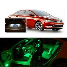 For Chrysler 200 2011-2014 Green LED Interior Kit +Xenon White License Light LED