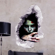 Ghost Through Brick Halloween Wall Stickers Living Room Bedroom 3D Wall Decal
