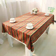 New Bohemia Square Tablecloth Lace Trim Table Cloth Cover For Home Party Decor