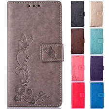 Butterfly Flower Wallet Leather Flip Case Cover For Huawei P8/P8 Lite/P9/P9 Lite