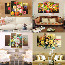 4 Piece Modular Wall Painting Canvas Prints Flowers Wall Art Decorative Pictures