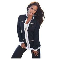 Roamans Plus Size Colorblock French Terry Jacket Assorted Sizes