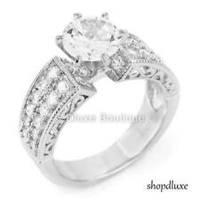 4.75 Ct Marquise Cut CZ Victorian Style Sterling Silver Women's Engagement Ring