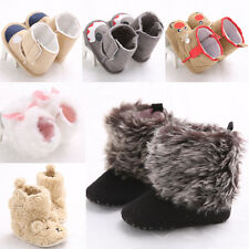 Toddler Baby Soft Sole First Shoes Snow Boots Winter Crib Shoes 3Size  #QSXD