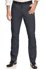 ALFANI Red Label Slim Fit Stretch Flat Front Casual Pants Kettle Grey $29