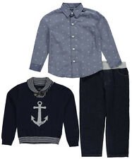 "Nautica Little Boys' Toddler ""Drop Anchor"" 3-Piece Outfit (Sizes 2T - 4T)"