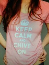 the Chive *Authentic* Pink Keep Calm and Chive On Women's t-shirt KCCO S M L XL