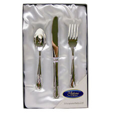 Silver Plated 3 Piece Child Cutlery Set Gift